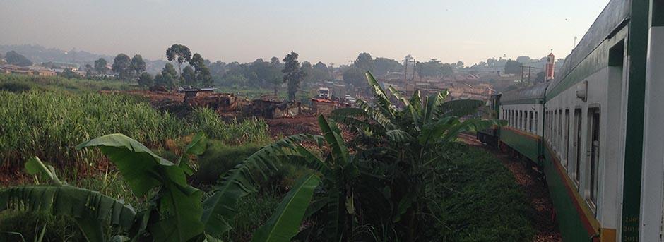 Rift Valley Railways Kampala train view towards Kireka