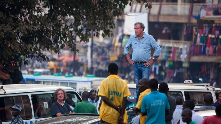 Jeremy Clarkson downtown Kampala. Top Gear