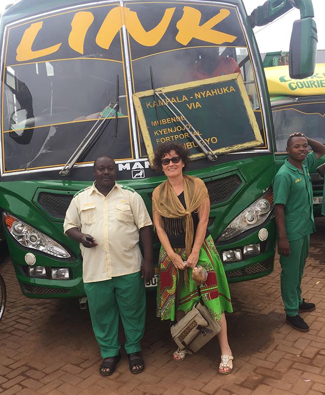 Link bus coach station Kampala Uganda. Diary of a Muzungu